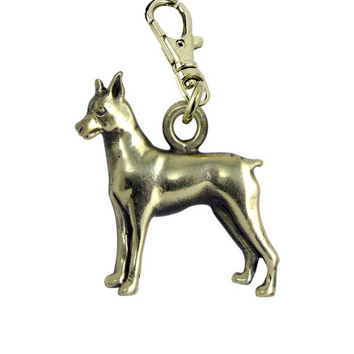 Miniature Pinscher Brass Zipper Pull