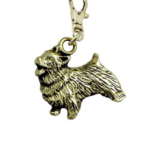 Norwich Terrier Brass Zipper Pull