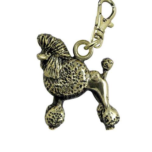 Poodle Show Cut Zipper Pull Brass
