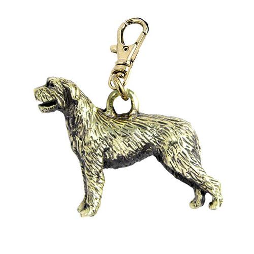 Irish Wolfhound Brass Zipper Pull