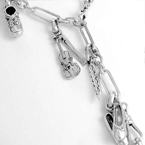 Watch Chain Necklace with Fob