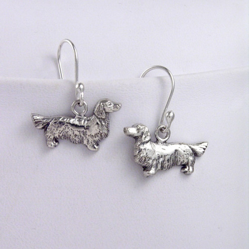 Dachshund Long Hair Earrings