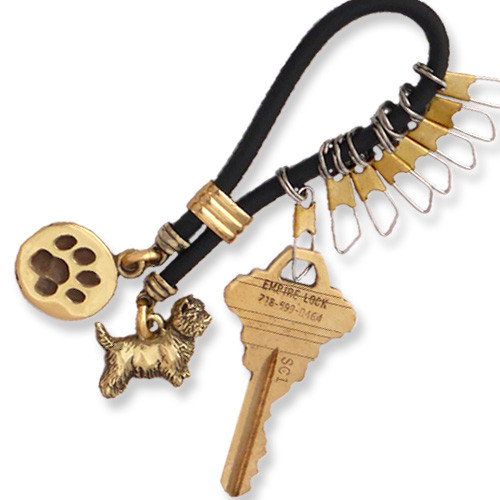 Rubber and Brass Keyline Key Chain