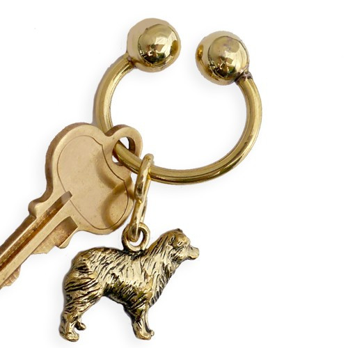Dog Breed U Keychain Brass