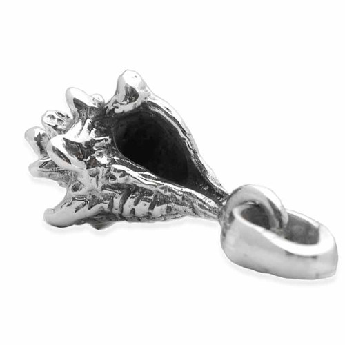 Conch Shell Charm Silver