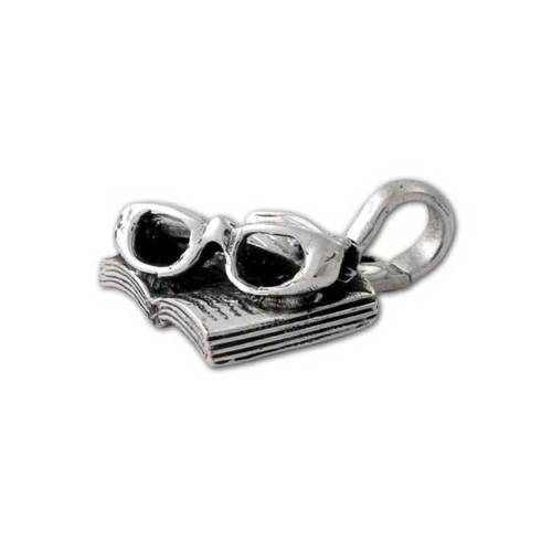 Open Book and Glasses Charm