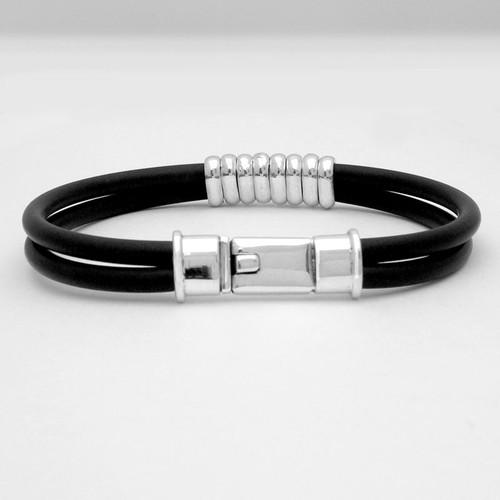 Box Clasp Banded Rubber Bracelet