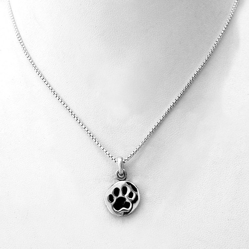 Paw Print Charm Necklace Small