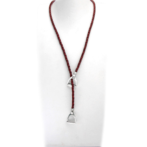 Stirrup Lariat Necklace full length