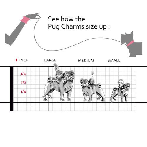 Pug Charm Sterling Silver Pug Jewelry Bracelets Pendants