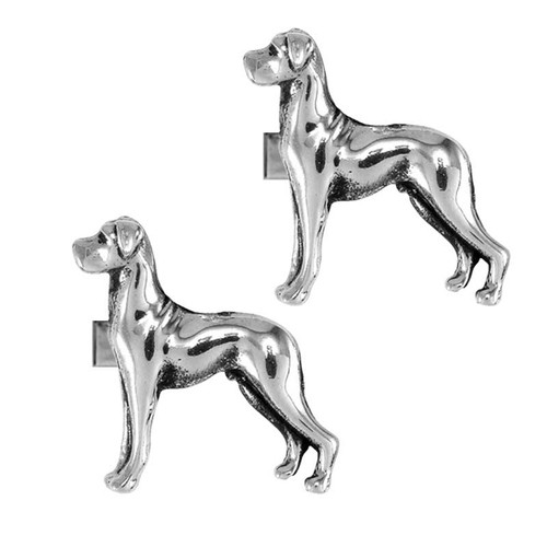 Natural ear Great Dane Cufflinks