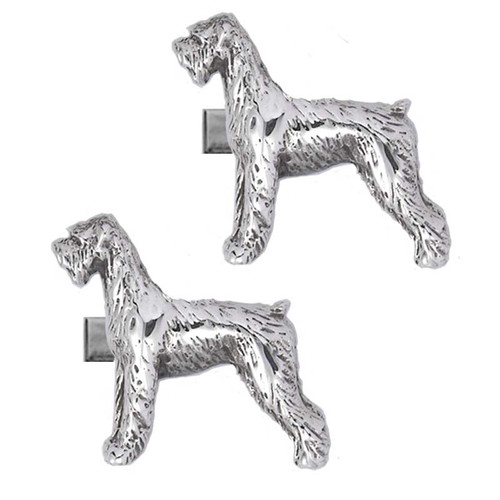 Natural ear Giant Schnauzer Cufflinks.