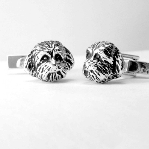 Maltipoo Cufflinks Head