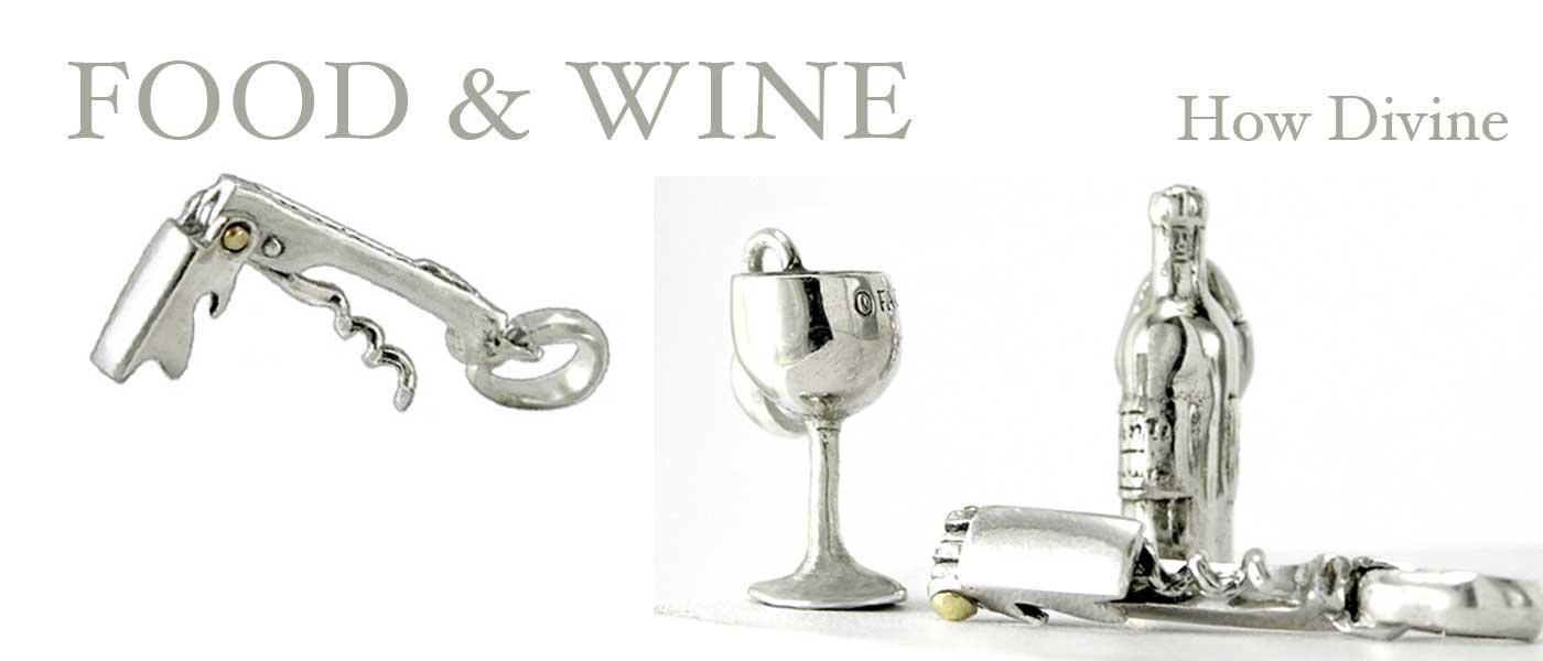 food & wine charms