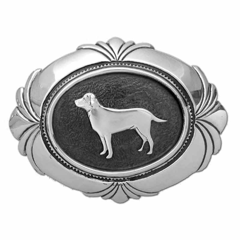Labrador Concho Style Belt Buckle