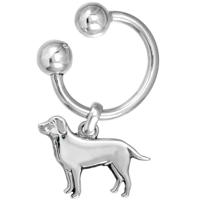 Classic U Keychain with Labrador