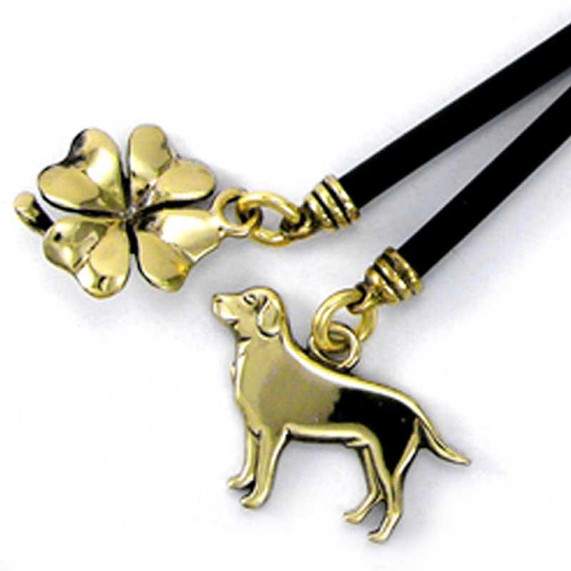 Brass Labrador on Keyline Keychain
