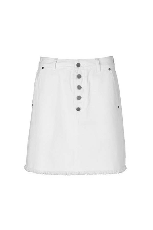 Michele Denim Skirt White