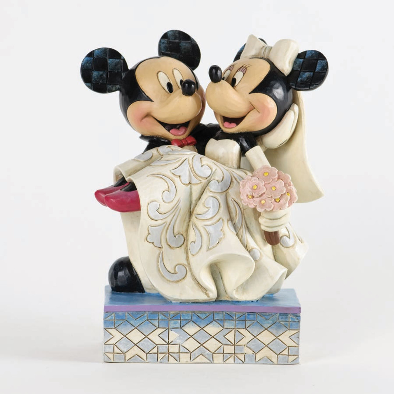 Mickey & Minnie Mouse Bride & Groom Wedding Cake Topper