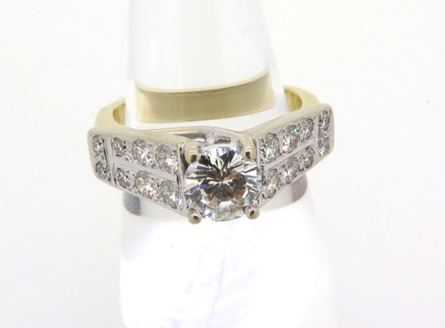 18CT YELLOW GOLD 1.99 TCW DIAMOND RING G-H COLOUR - VALUATION $19570 BRISBANE ESTATE JEWELLERY BUY SELL