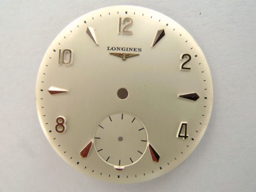 Lingines pink gold Cal. 27 17 jewel 30mm new old stock dial