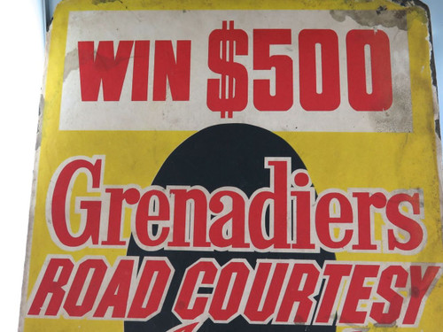 SUPER RARE 1966-1969 BRISBANE TRAM ADVERTISING BOARD, RADIO 4BH WIN $500.