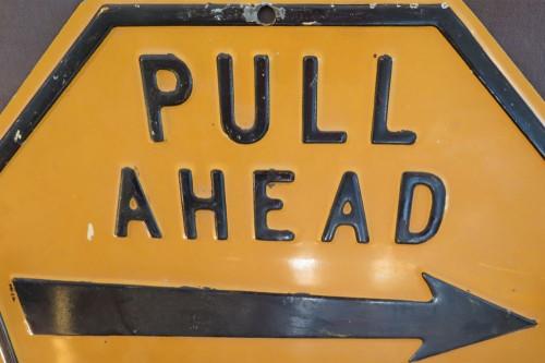 RARE VINTAGE AMERICAN GAS STATION EMBOSSED HEAVY SET METAL SIGN