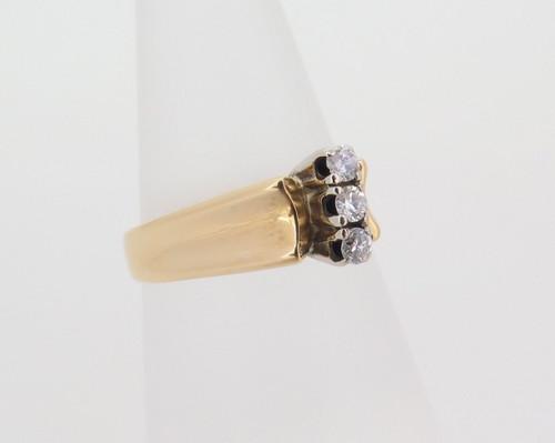 VINTAGE 1970s HANDMADE 18K YELLOW GOLD DIAMOND CLUSTER DRESS RING VAL $2500
