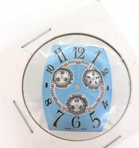 Rare Franck Muller 1/10 sec chronograph curved dial, 25mm X 31mm