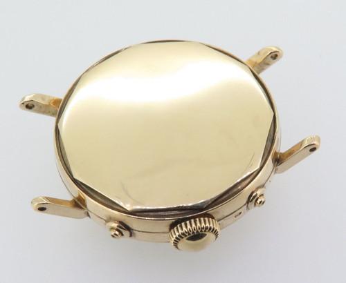 Vintage Movado Triple Date 14k Gold F.B Borgel Mens Wrist Watch