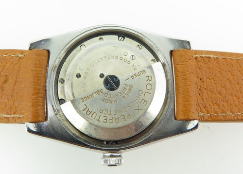 Rare 1945 Rolex Oyster radium burn dial, steel bubble back wristwatch 2940