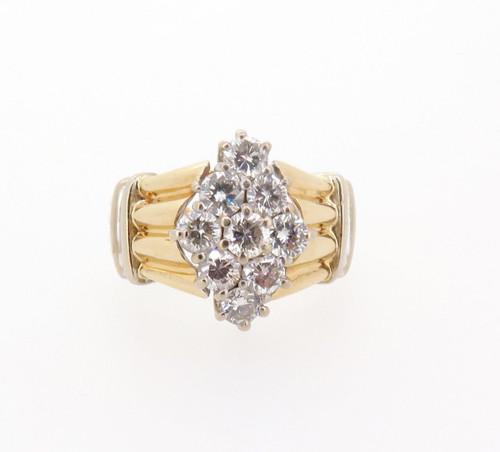 1.00ct H VS-SI 14ct yellow gold ladies diamond dress ring val $5215