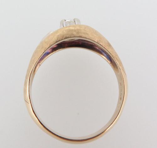 A 70s Vintage Diamond Solitare 14k white Gold Dress Ring Size U Val $3080