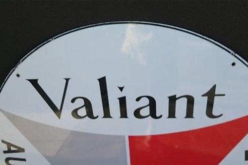 1960s VALIANT SUPER RARE NEW OLD STOCK LARGE ENAMEL ADVERTISING SIGN