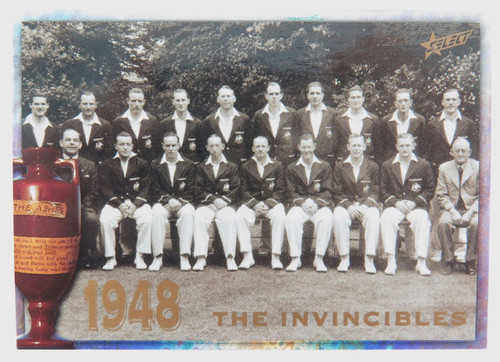 1998 Don Bradman / 1948 Invincibles ACB / Select Australia card. Variation #1