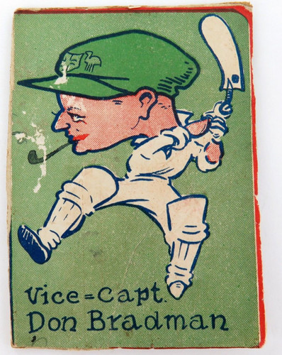 Super rare 1930's Don Bradman large colourful caricature picture laid on board