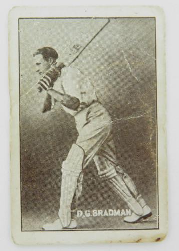 "C 1936 super rare Don Bradman card. Griffiths Bros "" All Sports Use - Black Crow"""