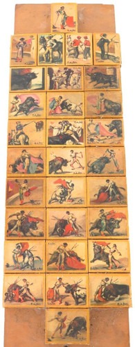 c1950's rare bizarre collection of Spanish bullfighting matchboxes