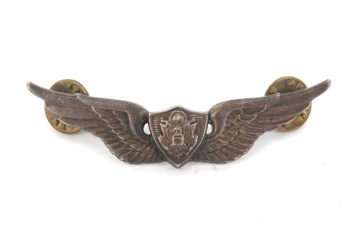 c1960's / 1970's STERLING SILVER US AIR FORCE WINGS. MAKERS MARK 22 M
