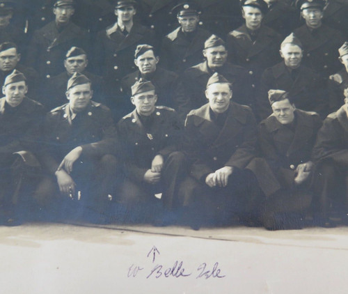"""WW2 HUGE PANORAMIC PHOTO US ARMY """"G COMPANY 54TH QUARTERMASTER REGIMENT"""""""