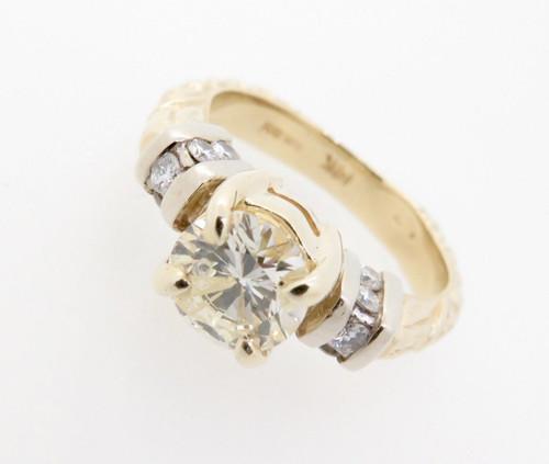 Impressive 1.27ct Diamond Set 14k Yellow Gold Dress Ring Size O Val $8990