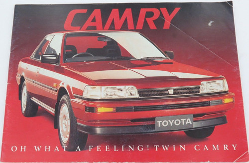 "VINTAGE CAMRY ""OH WHAT A FEELING"" LARGE SALES BOOKLET. V6, CS, ULTIMA, EXECUTIVE"