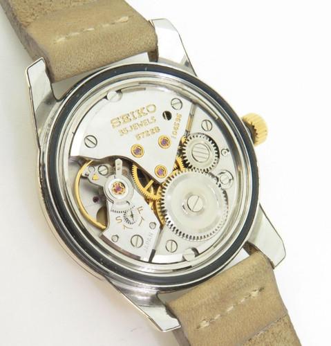 Vintage Seiko GS High Beat 35 jewel Gold Cap Mens Watch Ref 5722-9011