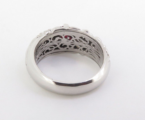 A Large Gentlemen's Platinum & Ruby Dress Ring Size Z+3 26.6 grams Val $10750