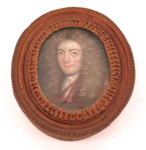 KING WILLIAM III / WILLIAM OF ORANGE INCREDIBLY RARE c1700 FRAMED OIL ON COPPER.