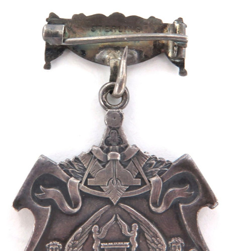 1875 LARGE ORNATE DOUBLE SIDED NEW YORK MASONIC TEMPLE DEDICATION SILVER MEDAL.