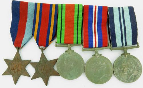 BRITISH WW2 MEDAL GROUP, PHOTO & WHISTLE. CAPTAIN MICHAEL FRANCIS LANE-JOYNT.