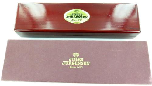 JULES JURGENSEN 7320K 14K GOLD LADIES WATCH DISPLAY BOX + ORIGINAL STORE TAG.