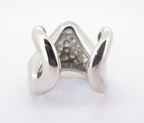 14ct White Gold 2.30tcw Pave Set Diamond Heart Ring Size M Val $7710