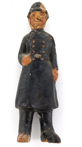 1800s LONDON BOBBY PLASTER ENCASED TOY FIGURE / ORNAMENT